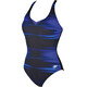 arena Kate Light Cross Back C-Cup One Piece Swimsuit Women bright blue-black